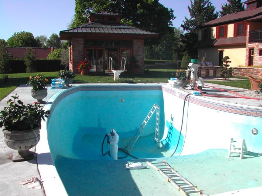 sandblast piscine en béton