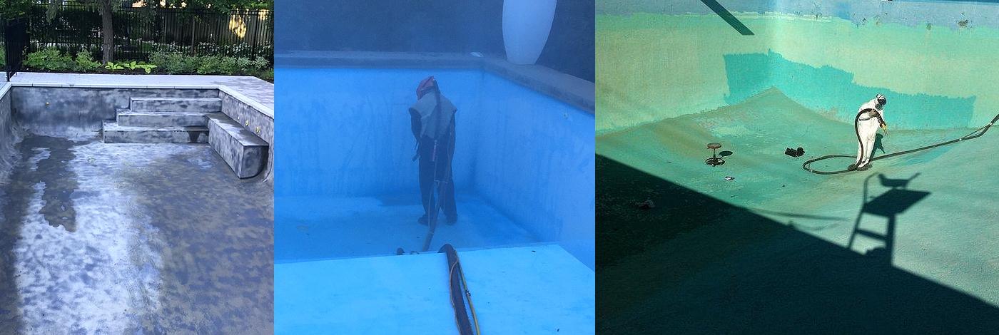 piscine sandblast